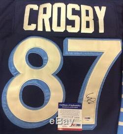 Sidney Crosby, Chandail Autographié Classique Des Penguins De Pittsburgh, Psa / Dna