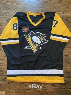 Sidney Crosby Des Penguins De Pittsburgh # 87 Signé Autographié Jersey- Paas Coa