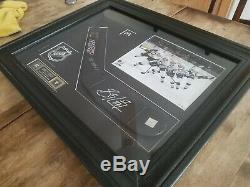 Sidney Crosby Jeu Utilisé Autographié Bâton Lame Encadrement Avec Coa Signé Frameworth