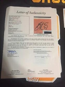 Sidney Crosby, Maillot Authentique Signé Jsa Psa Beckett, Lnh, Lettre En Jersey Authentique