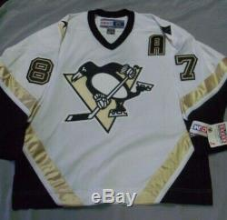 Sidney Crosby, Pgh Penguins, Signé Blanc, Ccm, Authentique Withtags Jersey, Taille XL
