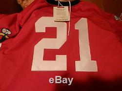 Stan Mikita Signé Mitchell Et Ness Chicago Jersey Blackhawks Hof 83