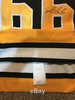 Steiner Authentique Mario Lemieux Signé Penguins De Pittsburgh