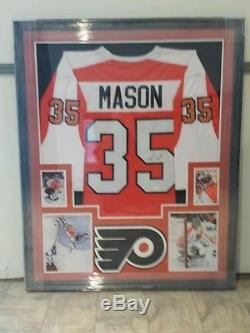Steve Mason, Chandail Autographié Par Flyers De Philadelphie, Encadré Sur Mesure. Jsa Coa