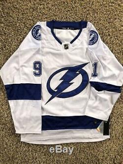 Steven Stamkos Maillot Lightning Tampa Bay Signé Jsa Coa # 91 NHL All Star Rare