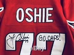 T. J. Oshie Go Caps A Signé Les Maillots De Hockey Autographiés Des Capitales Jsa Coa