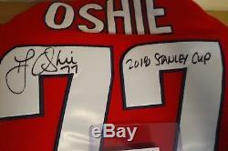 T. J. Oshie Signature De La Coupe Stanley De 2018 Autographe Washington Capitals Jsa Coa