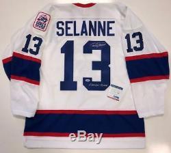 Teemu Selanne Signé Winnipeg Jets CCM 1993 Jersey Inscrit Psa / Adn Coa