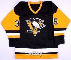 Tom Barrasso - Maillot Signé Penguins De Pittsburgh (tse Coa)