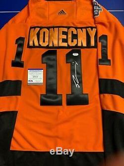 Travis Konecny signé Jersey Psa / Adn Coa 2019 Stadium Series Flyers De Philadelphie