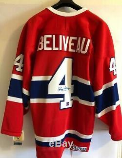 Vente 40% De Réduction! Jean Beliveau Chandail CCM Canadiens De Trace Autographié