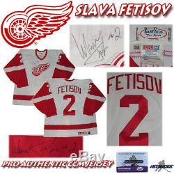 Viacheslav Fetisov Signé Detroit Red Wings CCM Jersey Authentique Pro Avec Coa