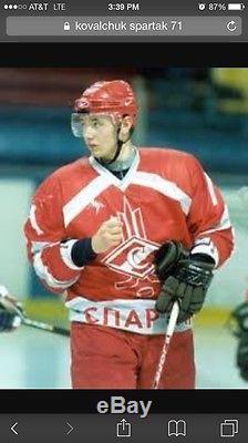 Vtg Ilya Kovalchuk Signé Hc Spartak Jersey Moscou Sz 52 Mockba Kobanbyk Devils