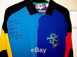 Vtg San Jose Sharks - Maillot En Maillot Signé De Première Année - Doubl Wilson - XL