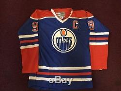 Wayne Gretzky A Signé La Lettre Ja Coa De Jersey Edmonton Oilers