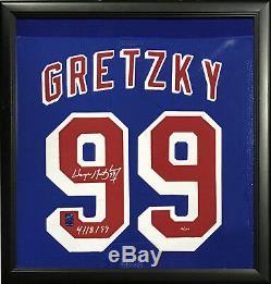 Wayne Gretzky A Signé Le Maillot Final Du Maillot Professionnel Ins Rangers Ins Auto Wga Coa / 299