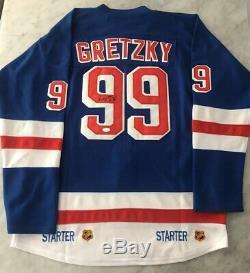 Wayne Gretzky Auto Autographe Rangers De New York CCM Jersey Starter Jsa Hof