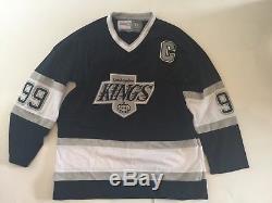 Wayne Gretzky, Autographe Signé Kings Jersey Psa / Dna Letter