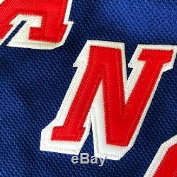 Wayne Gretzky, Autographe Signé, Réplique Du Jersey Wga Des Rangers De New York