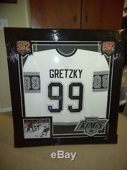 Wayne Gretzky Autographié Et Encadré Des Kings De Los Angeles CCM 802 Jersey-wga