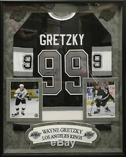 Wayne Gretzky Autographié Framed La Kings Jersey Uda Upperdeck
