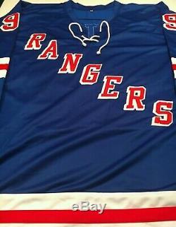 Wayne Gretzky Autographié Signé Jersey Avec Coa Rangers De New York