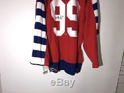 Wayne Gretzky, Chandail Autographié 1992 Autographié Et Signé, CCM Authentic Coa Vin