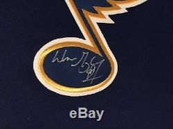 Wayne Gretzky Chandail CCM Vintage Signé Autographié Hof St. Louis Blues Nwt