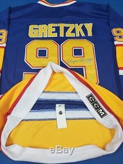 Wayne Gretzky Chandail De La LNH Autographié Par St. Louis CCM Jersey Avec L'aco
