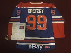 Wayne Gretzky Hof Des Oilers D'edmonton Signé Jsa Loa Maillot Taille 56