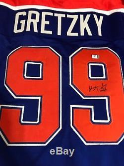 Wayne Gretzky Hologram Coa Maillot De Hockey Autographié Et Autographié D'edmonton