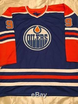 Wayne Gretzky Jersey Signé Autographié Par Les Oilers D'edmonton