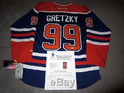 Wayne Gretzky Les Oilers D'edmonton Ont Signé Le Maillot Autographié Avec Le Bas Loa Coa Large Nouveau