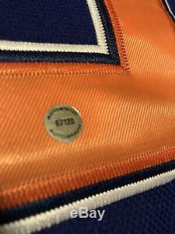 Wayne Gretzky Les Oilers D'edmonton Signés Le Jersey 52 Autographié Le Plus Bas Possible