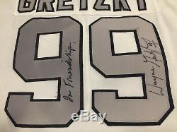 Wayne Gretzky - Maillot Blanc Autographié Et Signé Des Kings De Los Angeles