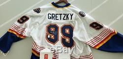 Wayne Gretzky - Maillot Blues St. Louis Certifié Par Wga - Signé