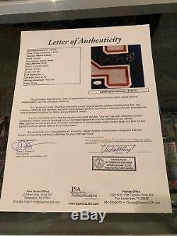 Wayne Gretzky Maillot De Hockey Haut De Gamme Signé Par Les Oilers D'edmonton, Wg + Jsa