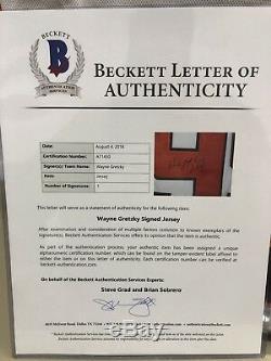 Wayne Gretzky Maillot De Match Des Étoiles Signé Beckett Bas Loa Kings De Los Angeles 2