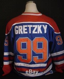 Wayne Gretzky Maillot Signé Throwback Des Oilers D'edmonton, Autographié Avec Coa
