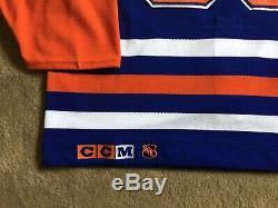 Wayne Gretzky Oilers D'edmonton Autographié Par Blue Jersey CCM Jersey Wga Coa