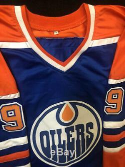Wayne Gretzky Oilers D'edmonton Autographié Signés XL Hockey Jersey Coa
