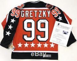 Wayne Gretzky Signé 1984 All Star Game CCM Jersey Oilers D'edmonton Beckett Loa