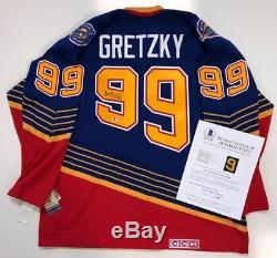Wayne Gretzky Signé CCM 1996 St. Louis Blues Jersey Beckett Coa A07256 Oilers