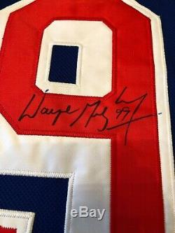 Wayne Gretzky Signé Coa Auto Hockey Jersey Rangers De New York Signé