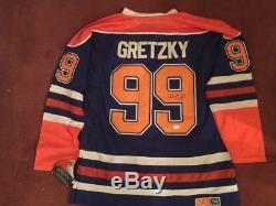 Wayne Gretzky Signé Des Oilers De Jersey Edmonton Par CCM Jsa Coa Letter