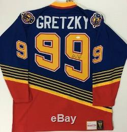 Wayne Gretzky Signé Jsa Mitchell & Ness