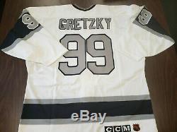 Wayne Gretzky Signé Kings Authentic Los Angeles CCM Jeu Modèle Jersey Jsa Loa