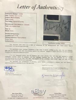 Wayne Gretzky Signé La Kings Authentique Pro Bracelet De Lutte Auto Jersey Auto Bracelet Jsa Loa
