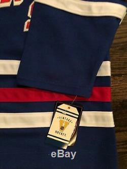Wayne Gretzky Signé / Rangers Autograpés CCM Jersey Wg Auth Coa / Nouveau Avec Étiquettes