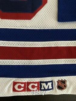 Wayne Gretzky Signé Rangers De New York Authentique NHL CCM Jersey- Beckett
